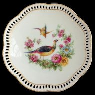 Schumann Bavaria Pheasant Pierced Rim Bread-and-Butter Plate