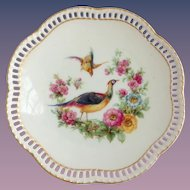 Schumann Bavaria Pheasant Pierced Rim Bread-and-Butter Plate