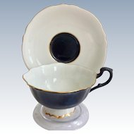 Paragon Bone China Double Warrant Black and White S1587 Teacup and Saucer