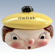 Napco K2595 Anthropomorphic Covered Relish Dish
