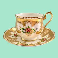 Royal Albert Royalty Gold Bone China Teacup and Saucer