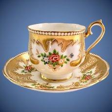 Royal Albert Royalty Gold Bone China Teacup and Saucer