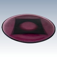 Moroccan Amethyst Large Round Serving Plate by Hazel Atlas Glass