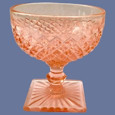 Miss America Pink Depression Glass Sherbet by Hocking Glass