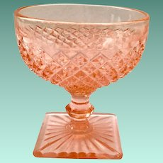 Miss America Pink Depression Glass Sherbet by Hocking