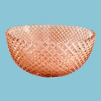 Miss America Pink Depression Glass Straight Sided Large Fruit Bowl by Hocking