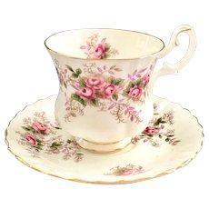 Royal Albert Lavender Rose Demitasse Bone China Cup and Saucer