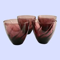 Hazel Atlas Moroccan Amethyst Swirl 12-Ounce Tumblers	- Set of Four