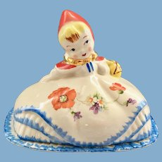 Hull Pottery Little Red Riding Hood Butter Dish