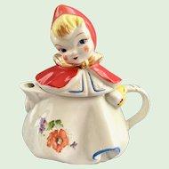 Hull Little Red Riding Hood Teapot One Flower on Skirt