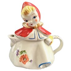 Hull Little Red Riding Hood Teapot One Flower on Skirt
