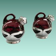 Farber Bros/Cambridge Glass Amethyst Salt and Pepper Shakers