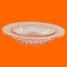 Miss America Pink Depression Glass Cereal Bowl/Butter Bottom