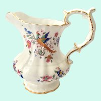 Hammersley, England Asiatic Pheasants Bone China Milk Pitcher