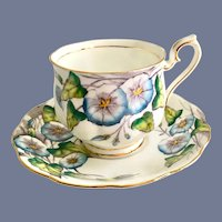 Royal Albert Bone China Flower of the Month Series Morning Glory Number 9 Teacup and Saucer