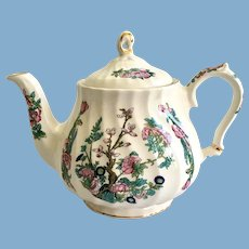Sadler England Indian Tree Swirl Teapot Gold Trim