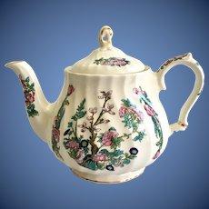 Sadler England Indian Tree Swirl Teapot Gold Trim