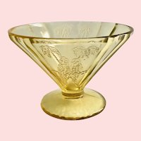 Parrot Sylvan Amber Depression Glass Cone-Shaped Sherbet by Federal