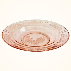 Sharon, Cabbage Rose, Pink Depression Glass Butter Bottom by Federal