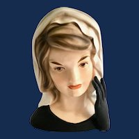 Jackie Kennedy in Mourning Head Vase Gloved Hand Inarco E-1852