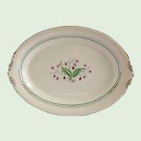 Syracuse China Coralbel Platinum Trim 14 Inch Serving Platter