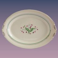 Syracuse China Coralbel Platinum Trim 14 Inch Serving Platter