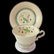 Syracuse China Coralbel Platinum Trim Cup and Saucer