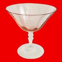 Fostoria Elegant Depression Glass Pink on Crystal Waterfall Stem 5099 Low Sherbet