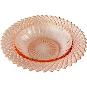 Miss America Pink Depression Glass Cereal Bowl
