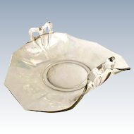 Fostoria Fairfax Elegant Glass Mother of Pearl Iridescent Bow Handle Bon Bon