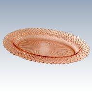Hocking Miss America Pink Depression Glass Oval Celery Bowl
