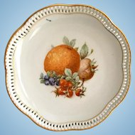 Schumann Fruits Pierced Rim 7-Inch Plate
