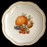 Schumann Germany Fruits Pierced Rim 7-Inch Plate