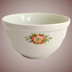 Hall China Rose White 6-1/4 inch Medallion Mixing Bowl