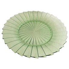 Jeannette Sierra Pinwheel Green Depression Glass Dinner Plate