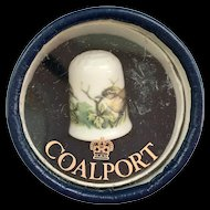 Coalport Bone China Wren Bird Thimble in Original Box