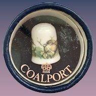 Coalport Bone China Wren Bird Thimble in Original Box