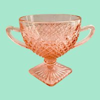 Miss America Pink Depression Glass Open Sugar Bowl by Hocking