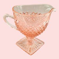 Miss America Pink Depression Glass Footed Creamer by Hocking