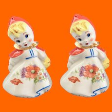 Hull Pottery Little Red Riding Hood Large Salt and Pepper