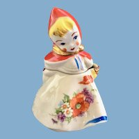Hull Pottery Little Red Riding Hood Mustard Jar and Lid