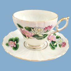 July Water Lily Vintage Teacup and Saucer