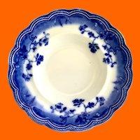 Johnson Brothers, England, St. Louis Flow Blue Rimmed Soup Bowl