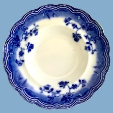 Johnson Brothers, England, St. Louis Flow Blue Rimmed Soup Bowl