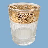 Culver Tyrol 22-K Gold Decorated Double On The Rocks Tumbler