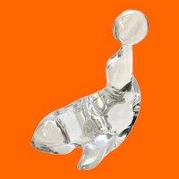 New Martinsville Glass Seal #452 Balancing Ball Figurine