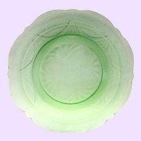 Hazel Atlas Royal Lace Green Depression Glass Dinner Plate
