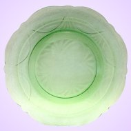 Hazel Atlas Royal Lace Green Depression Glass Dinner Plate
