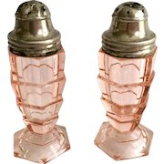 Indiana Tea Room Pink Depression Glass Salt and Pepper Shakers