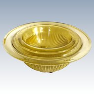 Federal Golden Glow Set of Three Amber Nesting Mixing Bowls